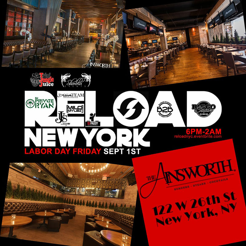 Trini Jungle Juice x ShorBlu: RELOAD New York