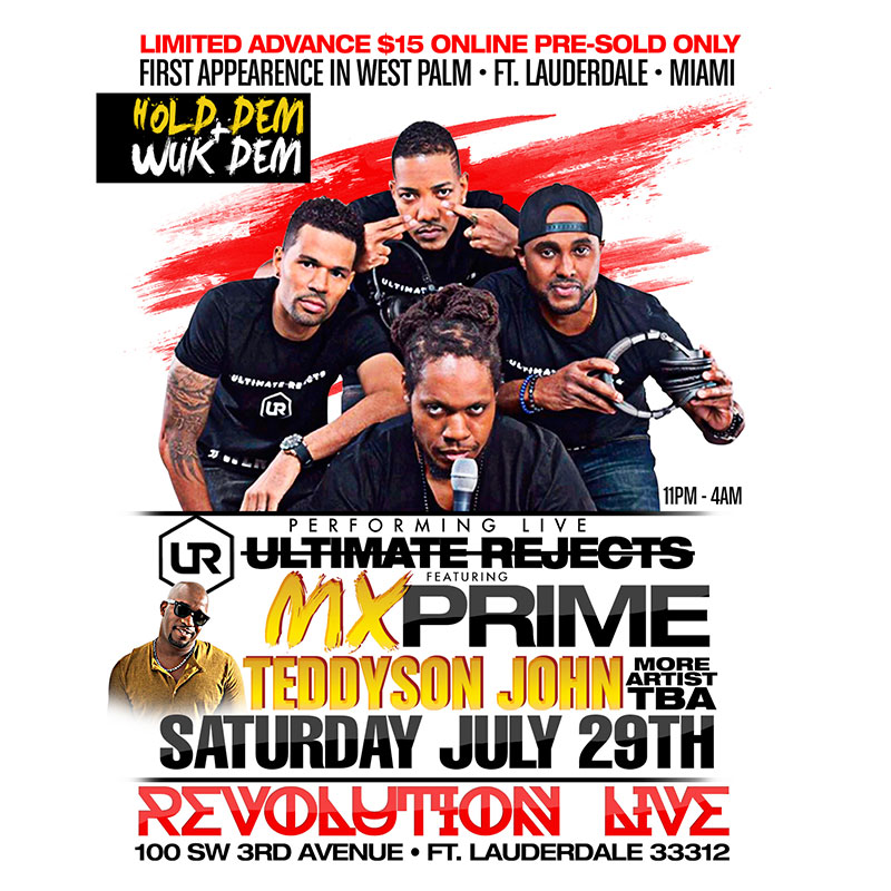 We Jammin Still - Ultimate Rejects featuring MX Prime Live