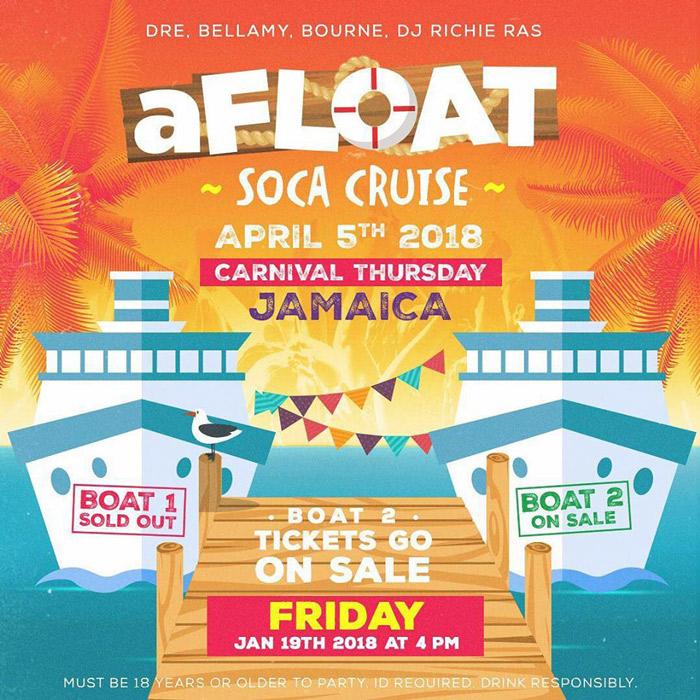aFLOAT Soca Cruise 2018 (Boat 2)