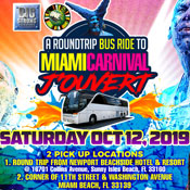 Round Trip Bus Ride to Miami Carnival J'Ouvert