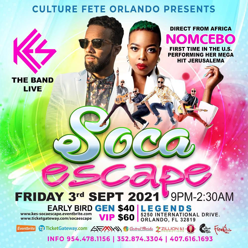 Soca Escape feat. Kes The Band and Nomcebo