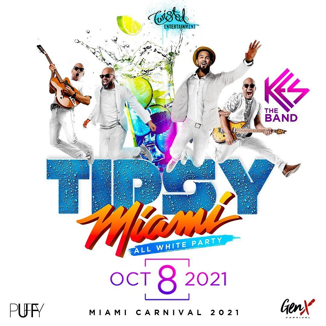 TIPSY Miami All White Party feat. Kes the Band