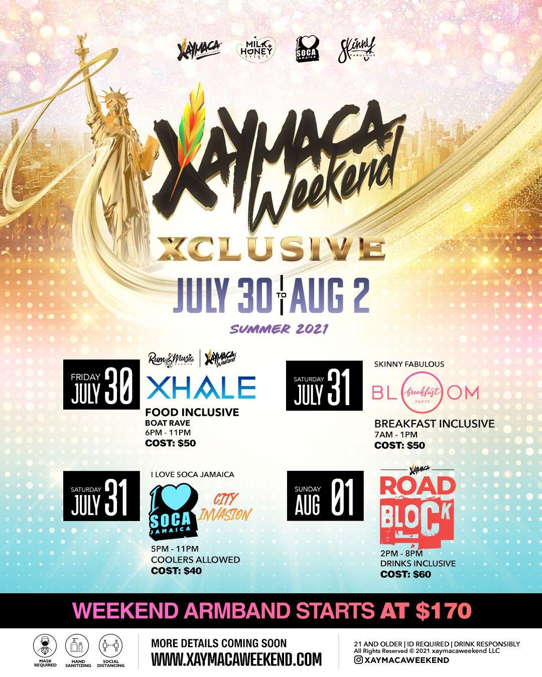 Xaymaca Weekend Xclusive NYC