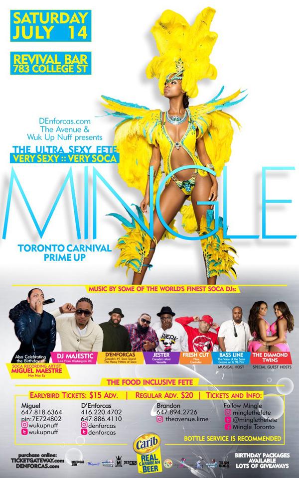 MINGLE - The Toronto Carnival Prime Up