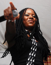Faye-Ann Lyons performing at Misty Ridge All Inclusive 2008